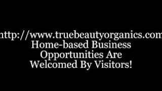 Online Shop Selling Certified Organic Cosmetics; Home-based Business Opportunity